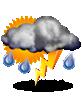 дъжд с гръмотевици